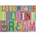 Love Peace Imagine Cushion Mat (22 x 30)