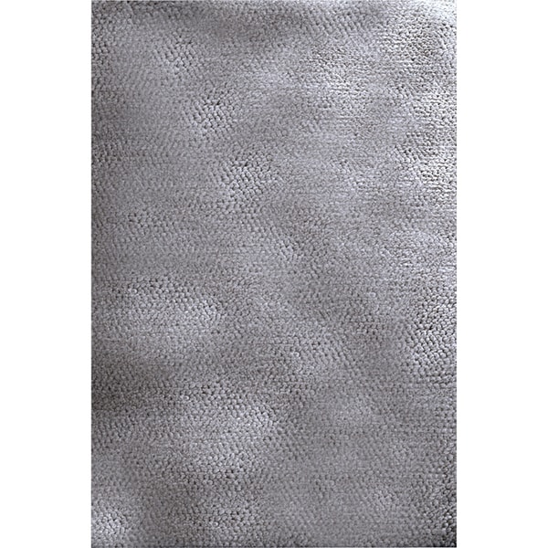 Hand-woven Boden Dove Gray Plush Shag New Zealand Wool Rug (2' x 3')