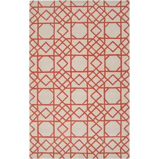 Hand-tufted Oologah Geometric Trellis Wool Rug (8' x 11')