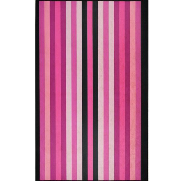 Somette Pink Stripes Mat (36 x 60)
