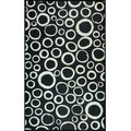 Somette Black and White Circles Mat (36 x 60)
