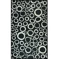 Black and White Circles Mat (36 x 60)