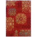 Arabesque Filigree Bronze Area Rug (7'10 x 11'2)