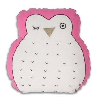 Marlo Lorenz Hoot Owl-shaped Pink Decorative Pillow