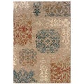 Arabesque Filigree Copper Area Rug (5'3 x 7'6)