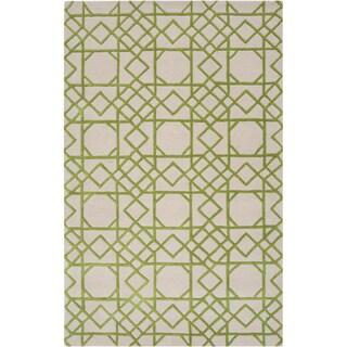 Hand-tufted Maud Geometric Trellis Wool Rug (8' x 11')
