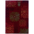 Arabesque Filigree Crimson Area Rug (5'3 x 7'6)