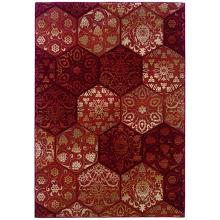 Arabesque Lucarne Rose Tones Area Rug (7'10 x 11'2)