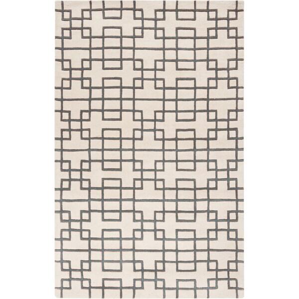 Hand-tufted Madill Geometric Wool Rug (5' x 8')