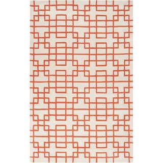 Hand-tufted Lexington Geometric Wool Rug (8' x 11')