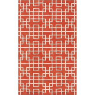Hand-tufted Langston Geometric Wool Rug (8' x 11')