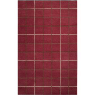 Hand-tufted Jenks Plaid Wool Rug (8' x 11')