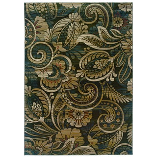 Millenium Floral Play Hints of Sage Area Rug (5'3