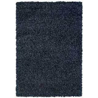 OMG Shag KISS Smoke Area Rug (5'3 x 7'6)