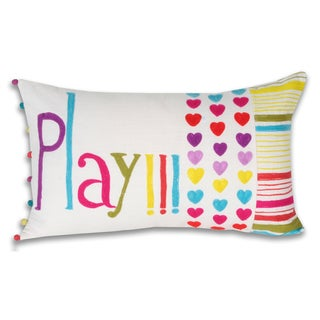 Marlo Lorenz Colorful 'Play' Multi Decorative Pillow