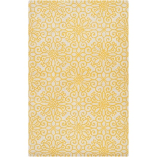 Hand-tufted Hobart Geometric Medallion Wool Rug (5' x 8')