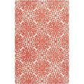 Hand-tufted Hinton Geometric Medallion Wool Rug (5' x 8')