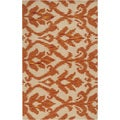 Hand-tufted Coalgate Orange Rug (5' x 8')