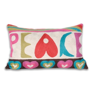 Marlo Lorenz Retro Peace Multi Decorative Pillow