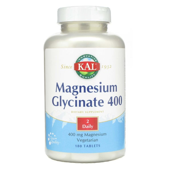 KAL Magnesium Glycinate 400 mg (180 Tablets)