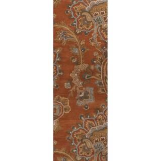 Hand-tufted Bixby Orange Rug (2'6 x 8')