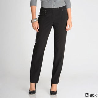 Focus 2000 Women's Straight Zip-pocket Career Pants