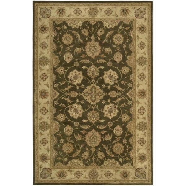 Hand-tufted Heritage Hall Brown Wool Rug