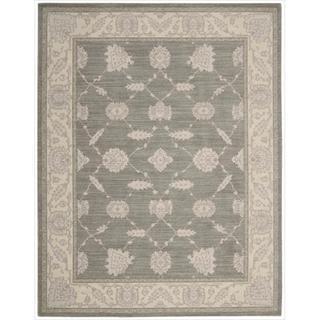 New Horizon Modern Persian Beige/ Grey Wool Rug (2'6 x 4'3)