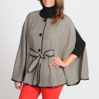 Focus 2000 Women's Houndstooth Poncho