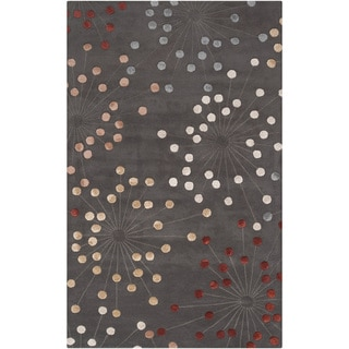 Hand-tufted Geary Grey Geometric Wool Rug (5' x 8')