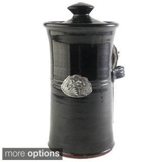Artisans Domestic Coffee Canister with Dragonfly Accent