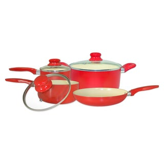 ExcelSteel Aluminum Cookware Set with Ceramic Non-Stick Coating