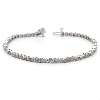 Auriya 14k Gold 2ct TDW Diamond Tennis Bracelet (H-I, I1-I2)