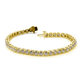 Auriya  14k White or Yellow Gold 8ct TDW Diamond Tennis Bracelet (H-I, I1-I2)