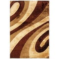 Shadow Magic KopiLuwak Swirled Area Rug (7'10 x 11'2)