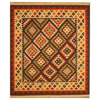 Handmade Wool Keysari Kilim Rug (5' x 8')