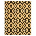 Hand Tufted Wool Gold Ikat Rug (5' x 8')