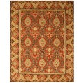 Hand Tufted Twisted Wool Rust Khyber Rug (7'9 x 9'9)