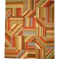 Handmade Wool Flatweave Patch Kilim Rug (8' x 10')