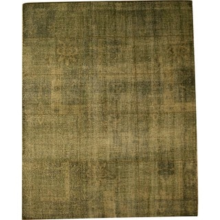 Hand Knotted Wool Green Over Dyed Rug (8' x 10')