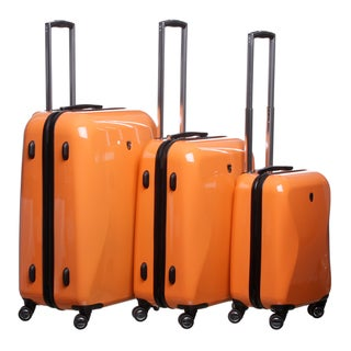 Heys USA Light Orange Crown LX 3-piece Hardside Spinner Luggage Set