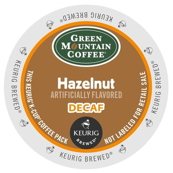 Green Mountain Coffee Hazelnut Decaf K-Cups for Keurig Brewers
