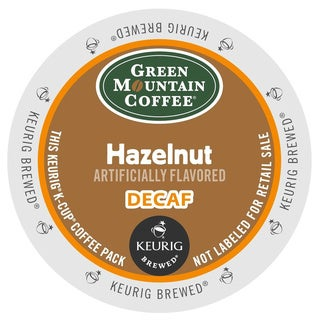 Green Mountain Coffee Hazelnut DECAF K-Cups for Keurig Brewers (Box of 48)