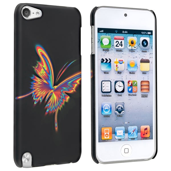 Insten Colorful Butterfly Hard Snap-on Rubberized Matte Case Cover For Apple iPod Touch 5th/ 6th Gen