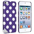 BasAcc Purple/ White Dot Case for Apple iPod Touch Generation 5