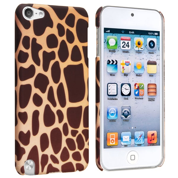 INSTEN Giraffe Rubber Coated Case Cover for Apple iPod Touch Generation 5