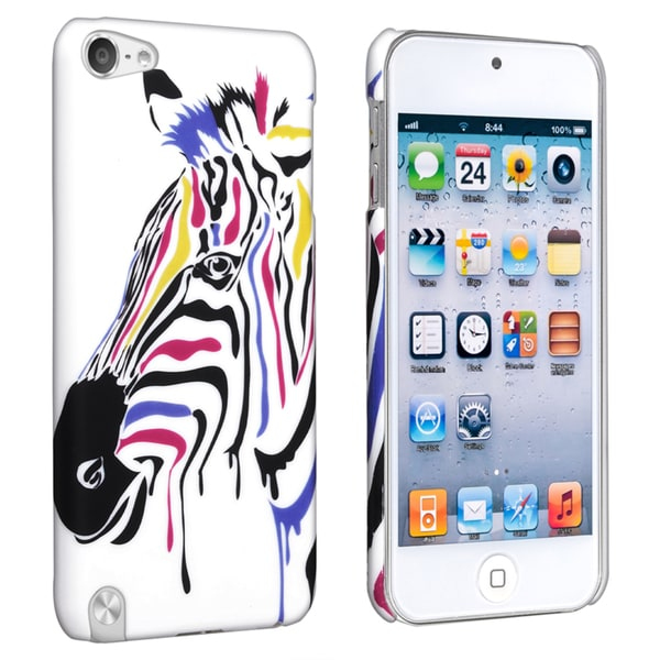 BasAcc Zebra Rubber Coated Case for Apple iPod Touch Generation 5