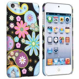 BasAcc Flower 9 Rubber Coated Case for Apple iPod Touch Generation 5