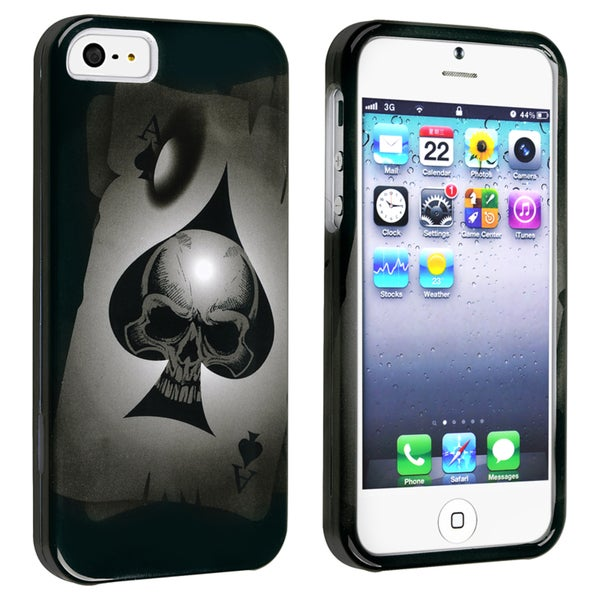 BasAcc Spade Skull Snap-on Case for Apple iPhone 5