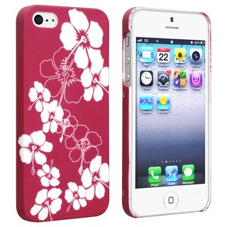 BasAcc Flower Rear Style 68 Rubber Coated Case for Apple iPhone 5